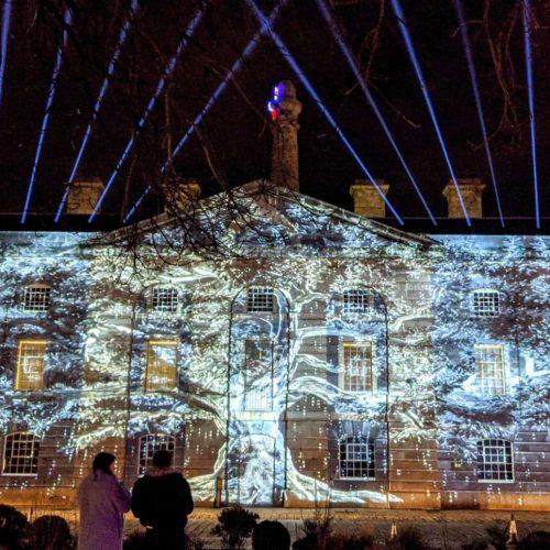 Projection and beam showcase at Illuminate
